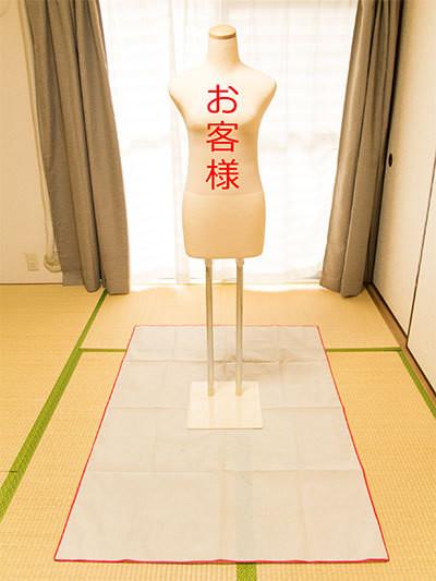着付け練習法「衣裳時期を使った練習」